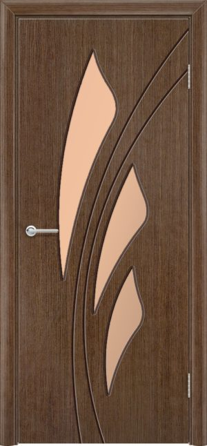 Межкомнатная дверь шпон Ландыш орех 3