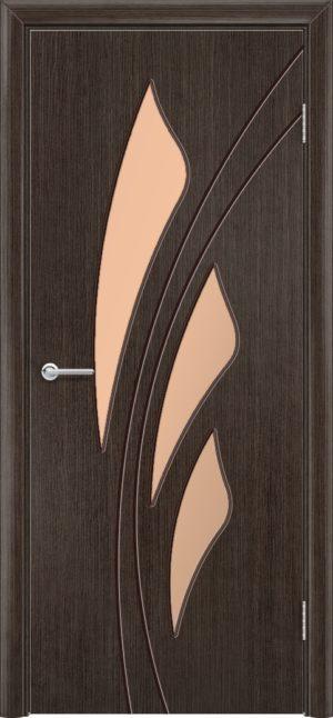 Межкомнатная дверь шпон Ландыш венге 3