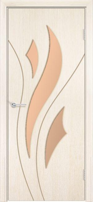 Межкомнатная дверь шпон Лотос белёный дуб 3