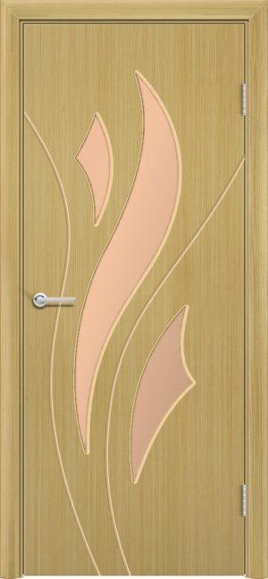 Межкомнатная дверь шпон Лотос дуб 3