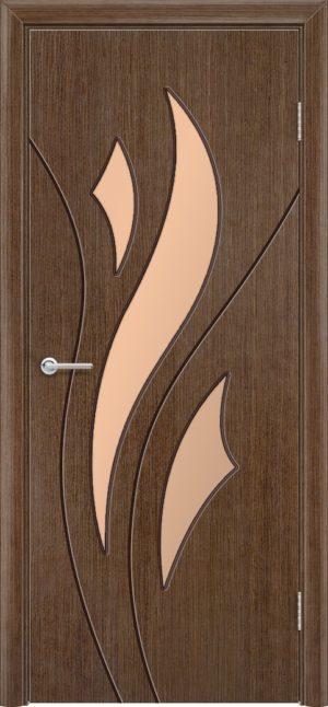 Межкомнатная дверь шпон Лотос орех 3