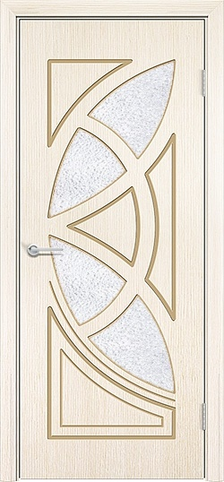 Межкомнатная дверь шпон Мелодия белёный дуб 3