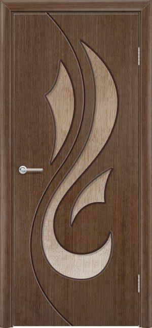 Межкомнатная дверь шпон Орхидея орех 3