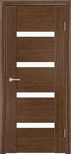 Межкомнатная дверь шпон Порто 4 орех 3