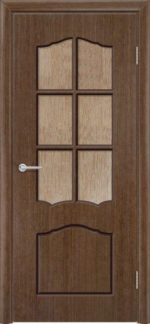 Межкомнатная дверь шпон Верона орех 1